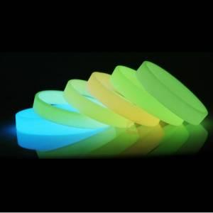 custom wristbands are glowing in the dark