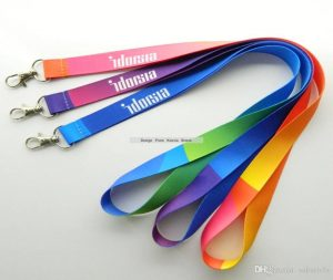 Different colors lanyards