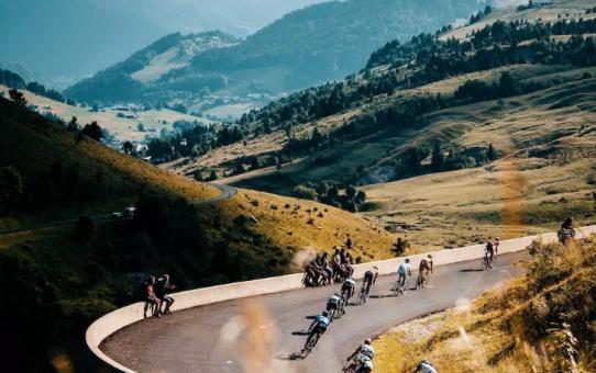 Mountain racing track