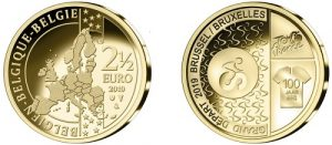 The 2019 Tour de France Belgian Royal Custom Coins
