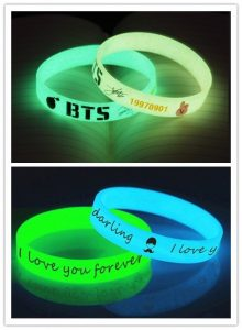 Wristbands with the luminous powder