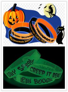 Glow-in-the-Dark Wristbands used as gifts on Halloween