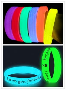Glow-in-the-Dark Wristbands flash like Neon