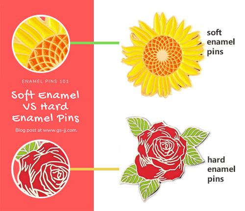 Soft Enamel VS Hard Enamel Pins