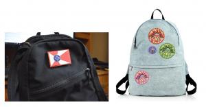 Black Backpack and Blue Backpack