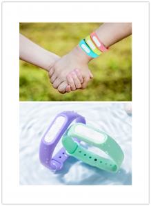 Parent-Child Wristbands can be used to prevent from mosquitoes' bites