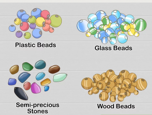 Various beads in the market can be chosen