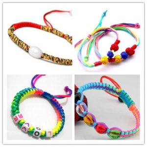 The sennit wristbands with other accessories