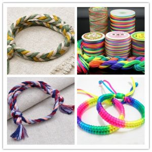 The Sennit Wristbands made of colorful ropes
