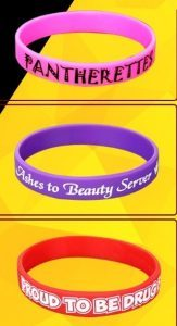 Print or write texts on the homemade wristbands