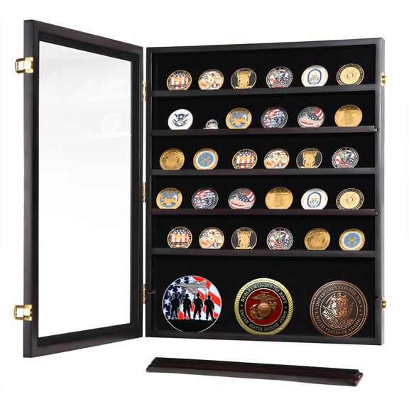 Military Challenge Coins Display