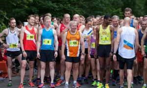 People with professional suits are ready for running