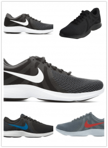 The various styles of running shoes from Nike