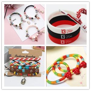 Many kinds of wristbands can be made at home