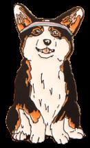 Happy puppy pin