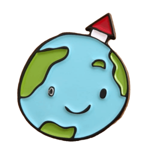 Smile earth pin