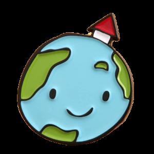 Smile earth pin