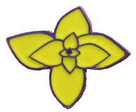 Yellow flower pin