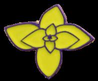 Yellow flower pin