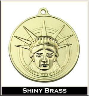 shiny brass plating