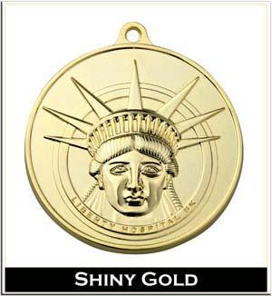 shiny gold plating